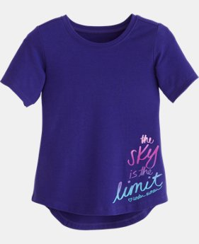 Girls' Pre-School UA The Sky Is The Limit Short Sleeve