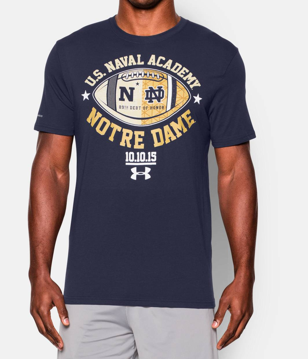 Men s notre dame vs navy t shirt under armour us for Notre dame tee shirts