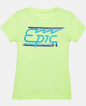 Girls' Pre-School UA Epic T-Shirt  1 Color $13.99