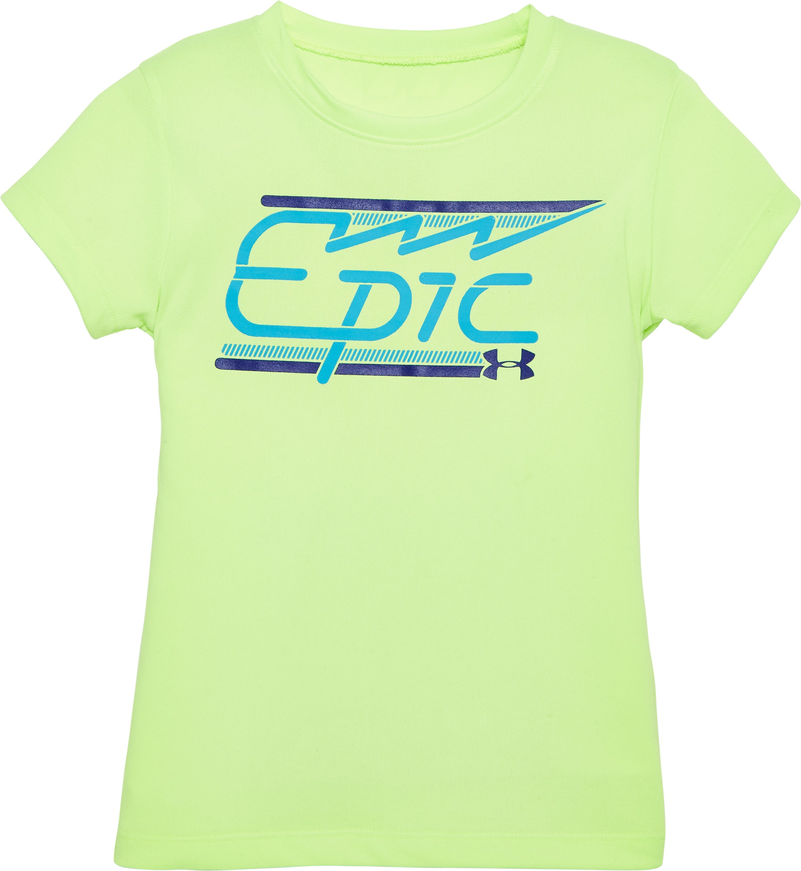 Girls' Toddler UA Epic T-Shirt, FUEL GREEN, Laydown