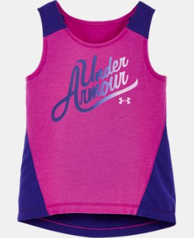 New to Outlet Girls' Pre-School UA Aloha Tank   2 Colors $16.99