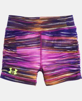 New to Outlet Girls' Pre-School UA Spectrum Yoga Shorts  1 Color $17.99