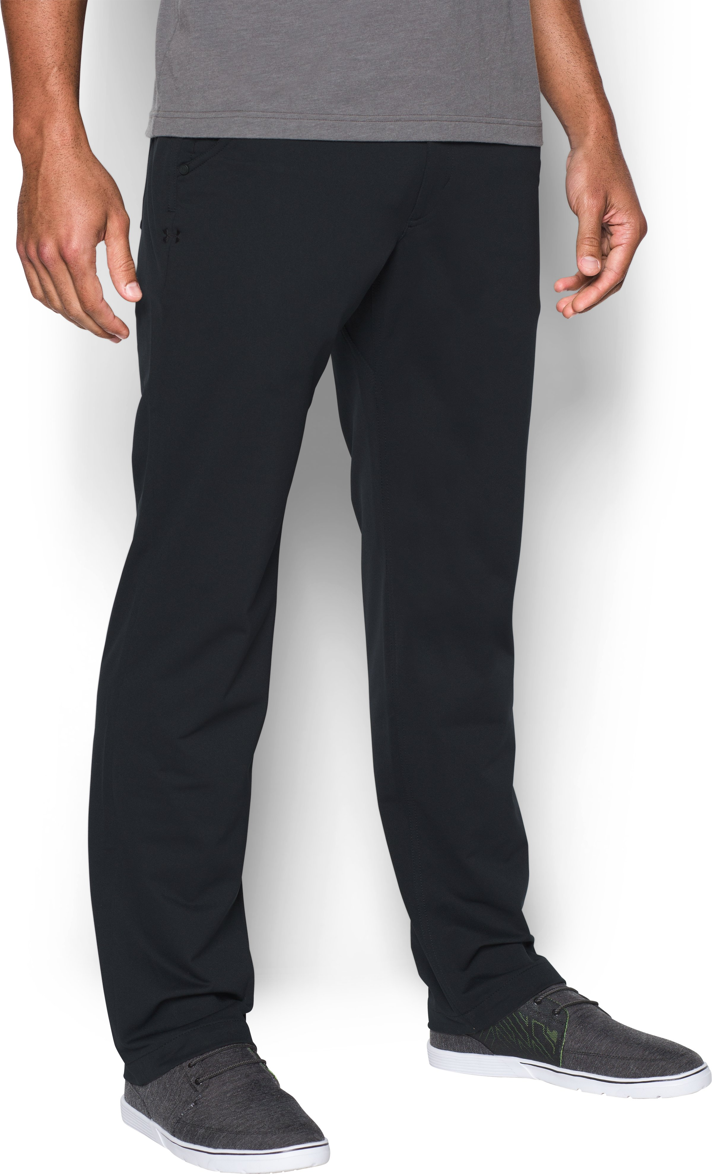 Men's UA Ultimate Pants, Black , zoomed image