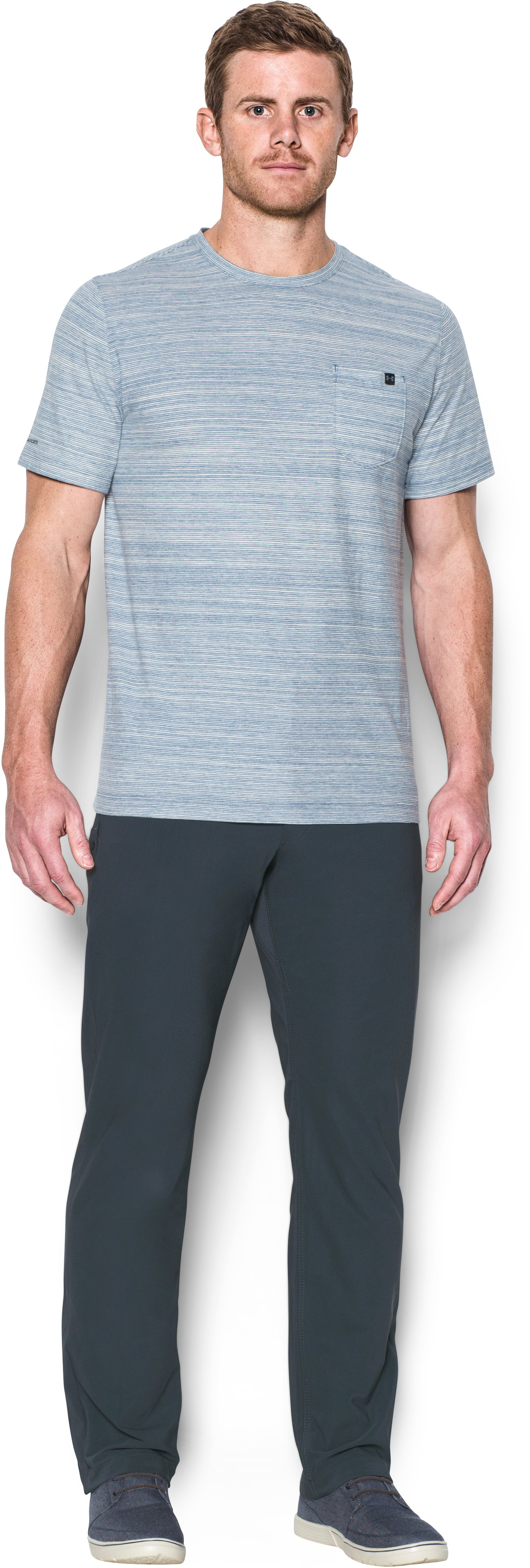 Men's UA Ultimate Pants, STEALTH GRAY, Front
