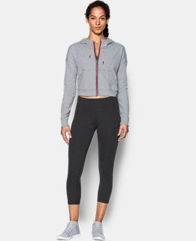 New Arrival  Women's UA Modern Terry Crop Jacket  1 Color $94.99