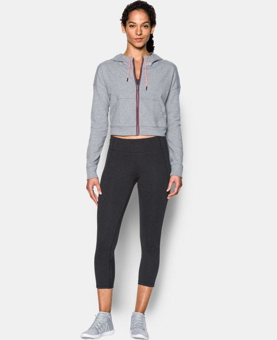 New Arrival  Women's UA Modern Terry Crop Jacket LIMITED TIME: FREE SHIPPING 1 Color $94.99