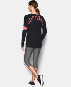 Women's UA Softball Long Sleeve LIMITED TIME: FREE SHIPPING 1 Color $49.99