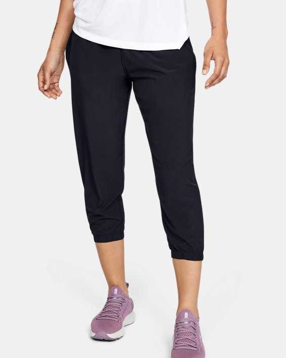Women's UA Sunblock Crop, Black, pdpMainDesktop image number 0