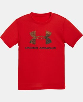 New to Outlet Boys' Pre-School UA Hunt Big Logo T-Shirt   $13.99
