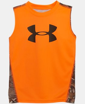 Boys' Pre-School UA Big Logo Real Tree Tank