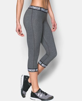 Women's UA Favorite Word Mark Capri   4 Colors $49.99