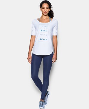 Women's UA Essential It's The Will Demi T-Shirt  LIMITED TIME: FREE U.S. SHIPPING 1 Color $33.99