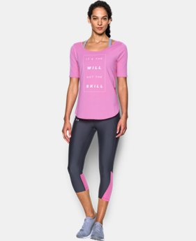 Women's UA Essential It's The Will Demi T-Shirt LIMITED TIME: FREE SHIPPING 2 Colors $44.99