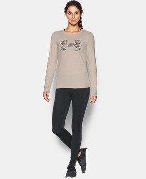 Women's UA Camo Big Logo Long Sleeve T-Shirt  1 Color $22.99
