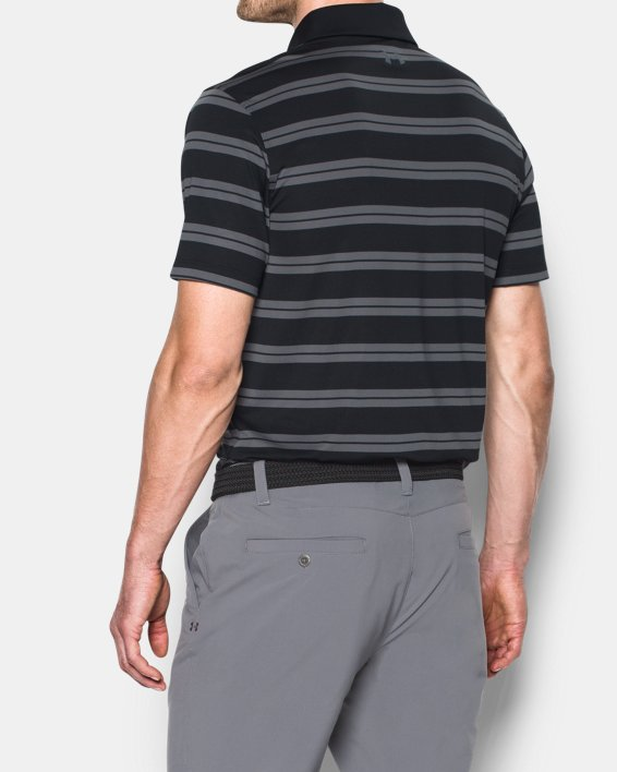 Men's UA Groove Stripe Polo, Black, pdpMainDesktop image number 2