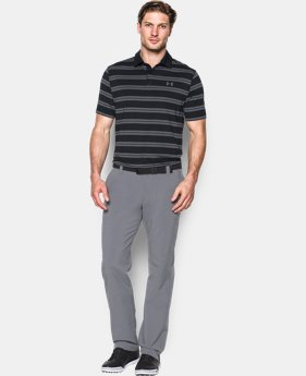 New Arrival  Men's UA Groove Stripe Polo LIMITED TIME: FREE SHIPPING 1 Color $74.99