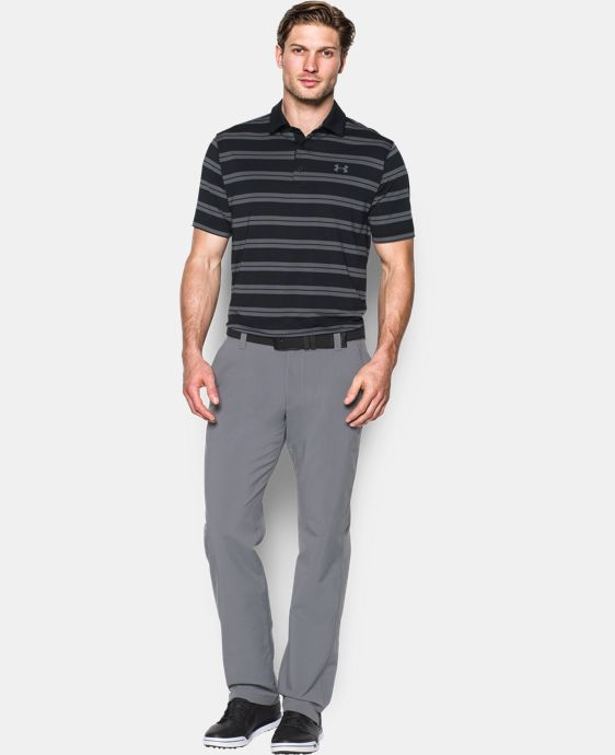 Best Seller Men's UA Groove Stripe Polo LIMITED TIME: FREE U.S. SHIPPING 1 Color $64.99