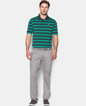 Men's UA Groove Stripe Polo LIMITED TIME: FREE SHIPPING  $42.74