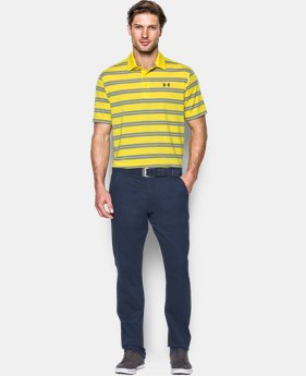 Men's UA Groove Stripe Polo  1 Color $42.74 to $56.99