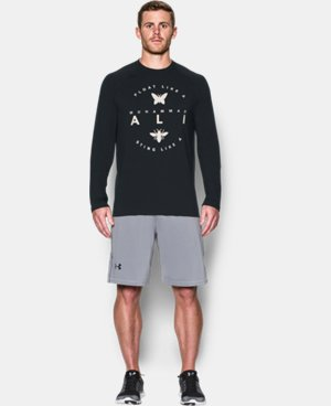 New Arrival Men's UA x Muhammad Ali Burnout Long Sleeve T-Shirt  1 Color $39.99