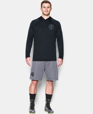 New Arrival Men's UA Lax Henley Hoodie  1 Color $44.99