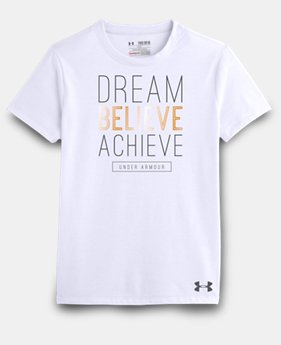 Girls' UA Dream Believe Achieve T-Shirt