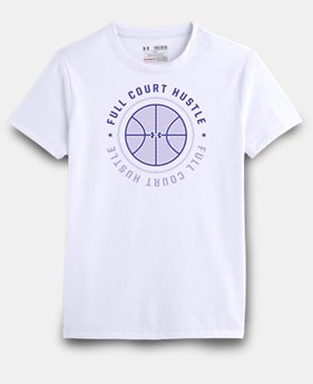Girls' UA Full Court Hustle T-Shirt