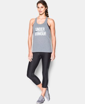 New Arrival  Women's UA Foil Word Mark Tank  1 Color $29.99