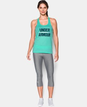 New Arrival Women's UA Foil Word Mark Tank  1 Color $24.99