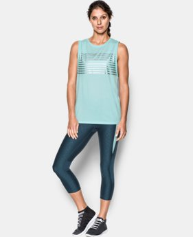 Women's UA Foil Cotton Modal Muscle Tank  1 Color $17.24