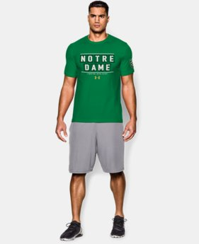 Men's Notre Dame Shamrock Series UA Wordmark T-Shirt