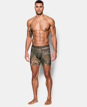 "New Arrival  Men's UA Original Series Camo 6"" Boxerjock®  3 Colors $26.24"