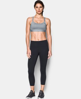 Women's Armour™ Shape Mid — Heather Sports Bra  5 Colors $44.99