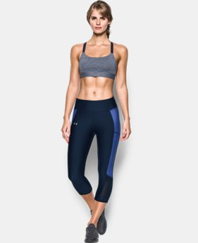 Best Seller Women's Armour® Eclipse Heather Mid Impact Sports Bra LIMITED TIME: FREE U.S. SHIPPING 1 Color $39.99