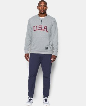 Best Seller Men's UA x Muhammad Ali Cassius Clay Americana ¼ Zip  2 Colors $64.99