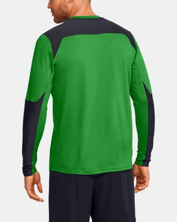Men's UA Threadborne Wall Goalkeeper Jersey, Green, pdpMainDesktop image number 4