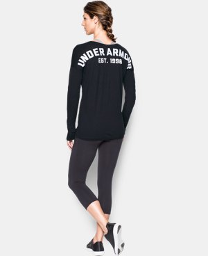Women's UA Favorite Word Mark Long Sleeve  1 Color $49.99