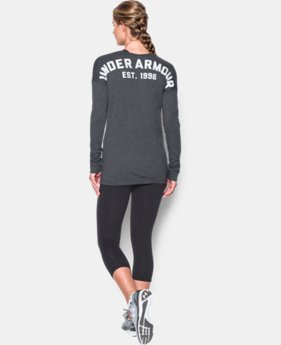 Women's UA Favorite Word Mark Long Sleeve  1 Color $44.99