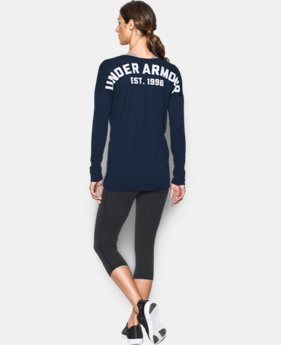 Women's UA Favorite Word Mark Long Sleeve  1 Color $20.99 to $25.49