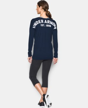 New Arrival  Women's UA Favorite Word Mark Long Sleeve LIMITED TIME: FREE SHIPPING 1 Color $37.99