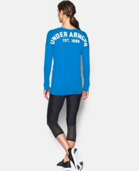 Women's UA Favorite Word Mark Long Sleeve LIMITED TIME: FREE SHIPPING 1 Color $33.99