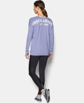 Women's UA Favorite Word Mark Long Sleeve  2 Colors $44.99