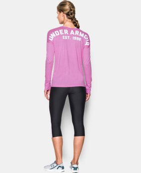 Women's UA Favorite Word Mark Long Sleeve LIMITED TIME: FREE SHIPPING 3 Colors $44.99