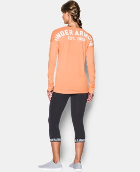 Women's UA Favorite Word Mark Long Sleeve  1 Color $27.99 to $33.99