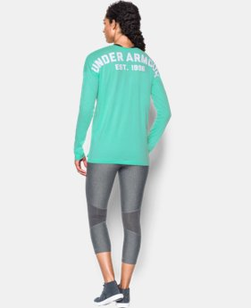 Women's UA Favorite Word Mark Long Sleeve  1 Color $33.99