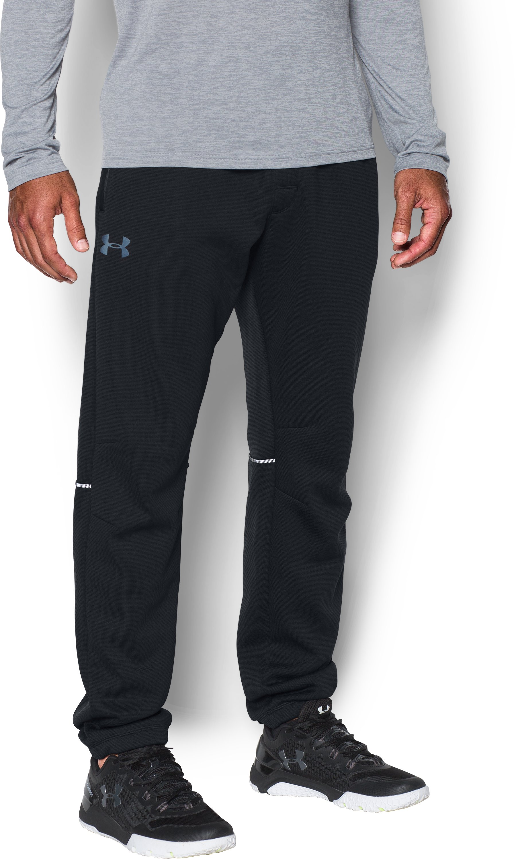 Men's UA Storm Swacket Pants, Black ,