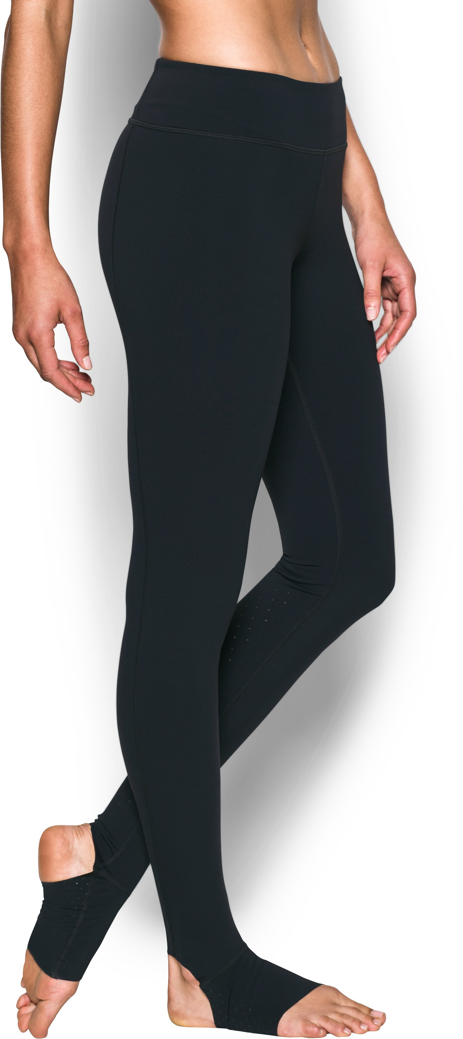 Women's UA Mirror Free Cut Stirrup Legging, Black , zoomed image