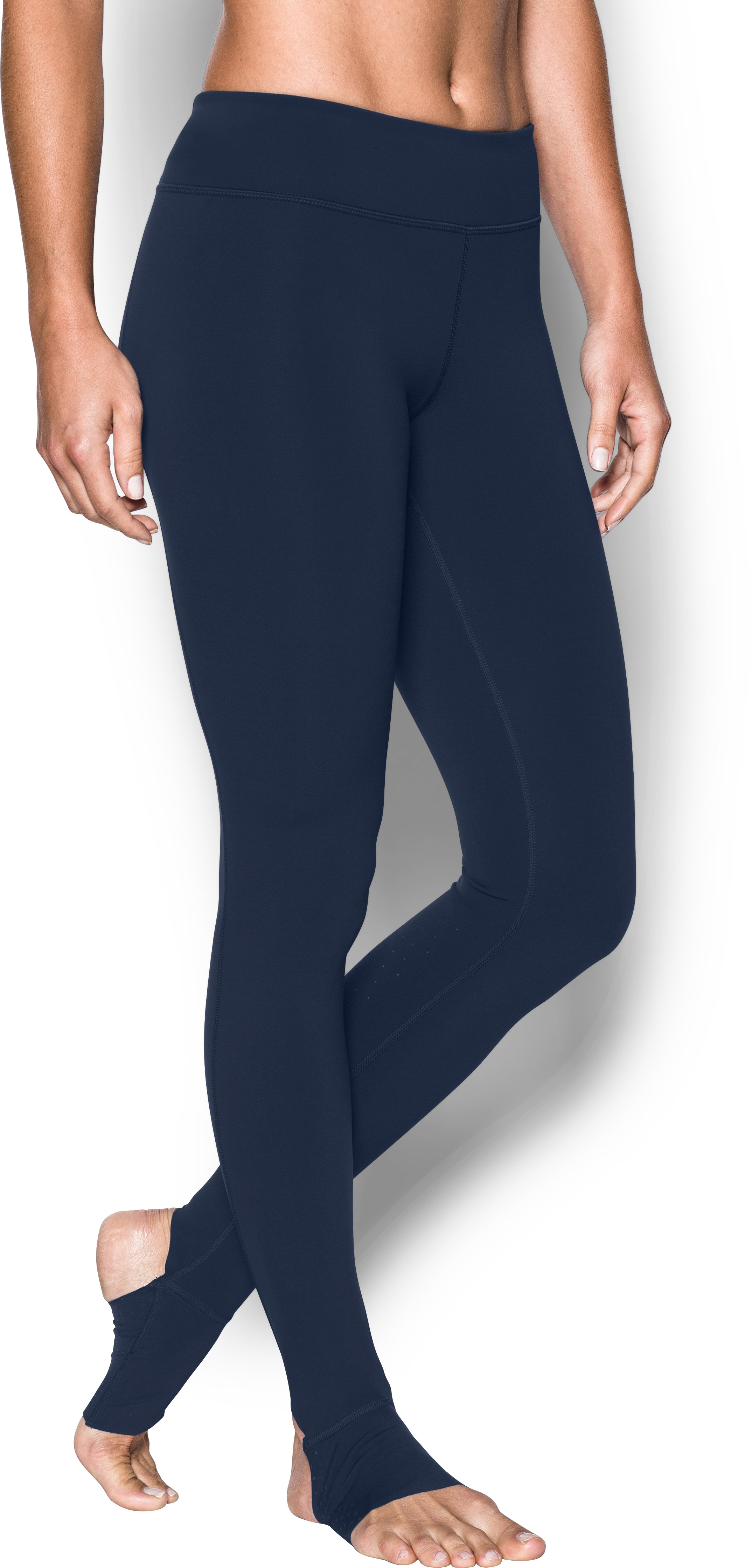 Women's UA Mirror BreatheLux Stirrup Leg, Midnight Navy, undefined