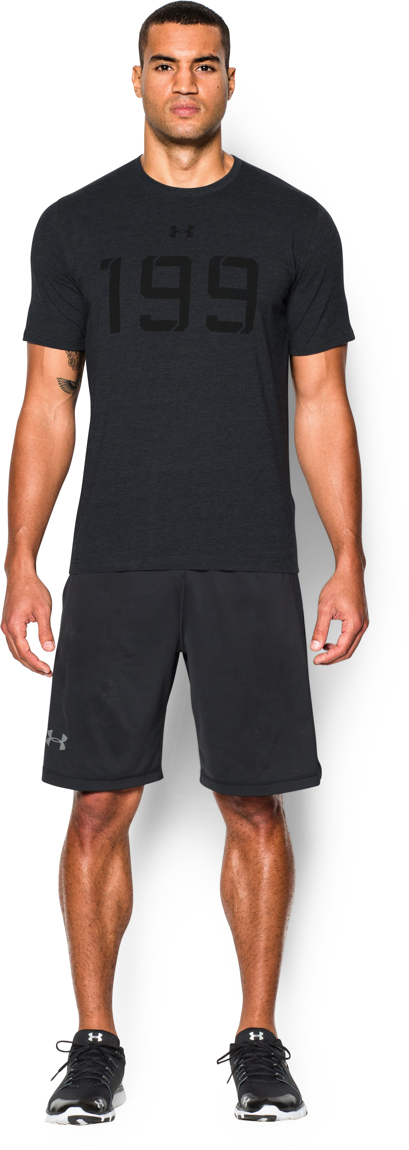 Men's UA Draft 199 T-Shirt, Black , Front