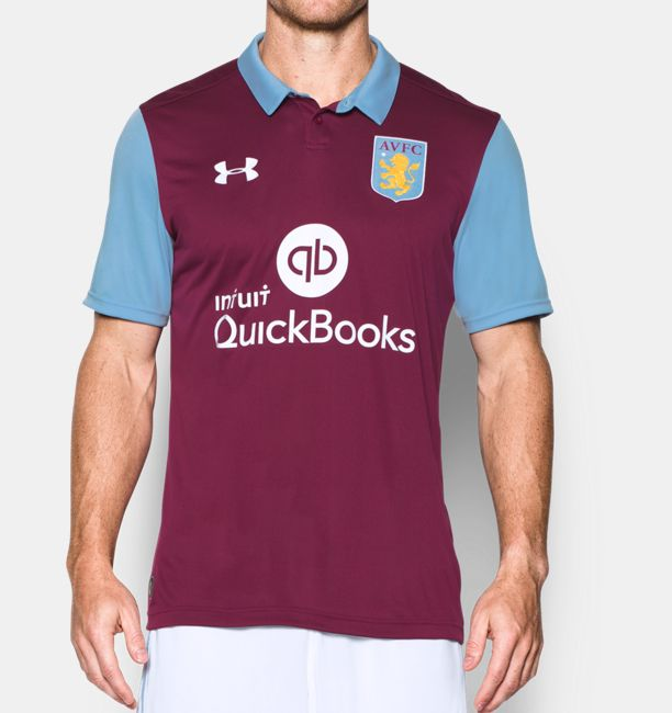 Men S Aston Villa 16 17 Home Replica Jersey Under Armour Us